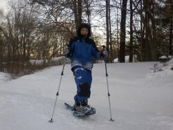 Taylor On Snowshoes