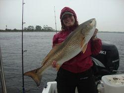 Luv fishin in the rain!