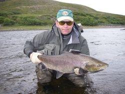 A 9 kg Salmon Kharlovka river Russia