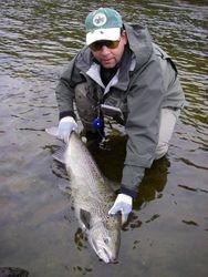 A 12kg salmon Rynda river Russia
