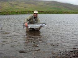 A 10 kg salmon Vantsdalsá river Iceland