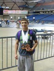 Derek with medals