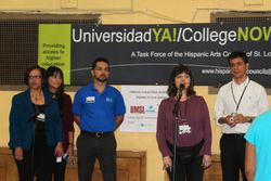 Universidad YA! team opens the fair. to introduce the main speaker, Mr. Mario Guerrero