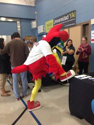 Cardinals' Fredbird show up at the event to the delight of children and adults!