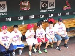 'Beltran's Buddies'at the dugout in Busch Stadium