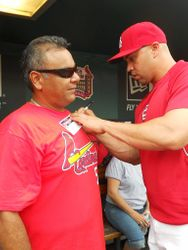 Carlos Beltran signed parents' T-shirts as well!