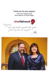 Mr. Ray Suarez & Ms. Virginia Braxs, President of HAC