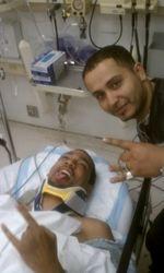 hospital bed motorcycle crash