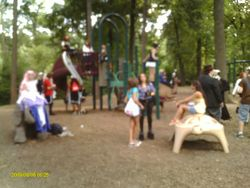 Cosplayers in the park