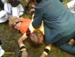 Dog Pile on Naruto