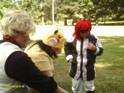 Aido, Pikachu and Lavi