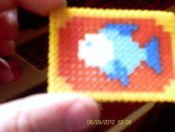 bath mat made from mini hamma beads