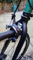 Drop bolt on front brake