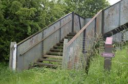 Hammerwich footbridge and sign