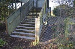 New secure fencing on Station Lane side