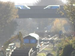 View out to Wednesbury with a class 66 in view