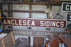 Anglesea Sidings Name Plate