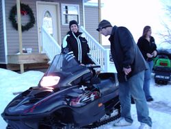 Jacey's first snowmobile