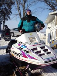 Mike's first snowmobile