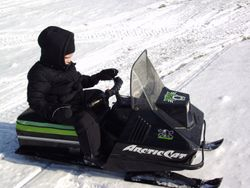 Braydon's first snowmobile at age 3
