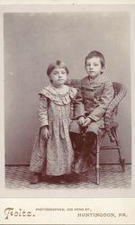 Anna Mary Blatt and her brother, William J Blatt