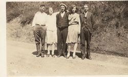 Anna Mary (Blatt) Cunningham with unknown friends