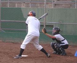 Bill Durbrow (batting) Peter Liebman (catching)
