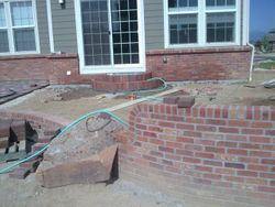 Custom Brick on Patio - Broomfeild