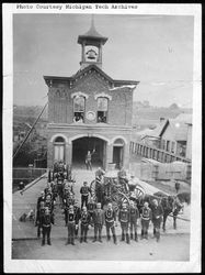 The first Calumet Village Fire Station