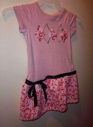 T-Shirt to Argyle Drop Waist Dress