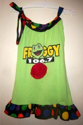 Froggy Dress from T-Shirt and fabric