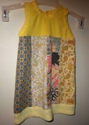 Girls 6-12 mo dress made from scraps