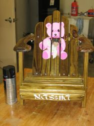 Personalized outdoor childs chair