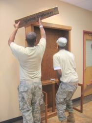 Cabinet being Installed