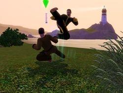 Luke and Reid sparring