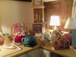 tea cozies and wine cozies
