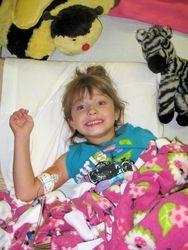 Natalie receiving her IV meds
