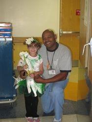 Natalie with her favorite Nurses assitamt, Darryl