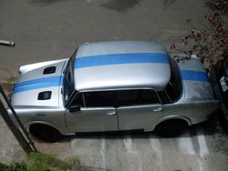 metallic blue strip