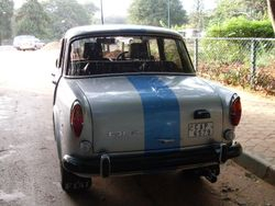 Fiat 1100 monogram and 800's number plate light