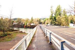 Bridge across Mike Boyers Home river