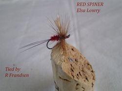Red Spinner Elsa Lowrie