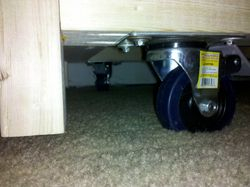 Locking Casters Added