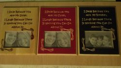Brother and Sister Picture Frames