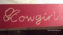 """Cowgil Cabana"" Sign"