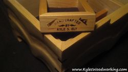 Hand Carved Maple Jewelry Box