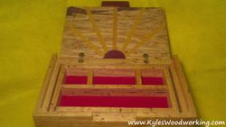 Hand Carved Red Oak Jewelry Box