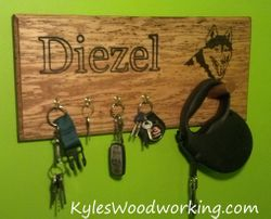 Dog Leash Holder/ Key Rack