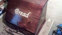 Pine Bread Box