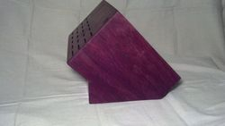 Custom Purple Heart Knife Block